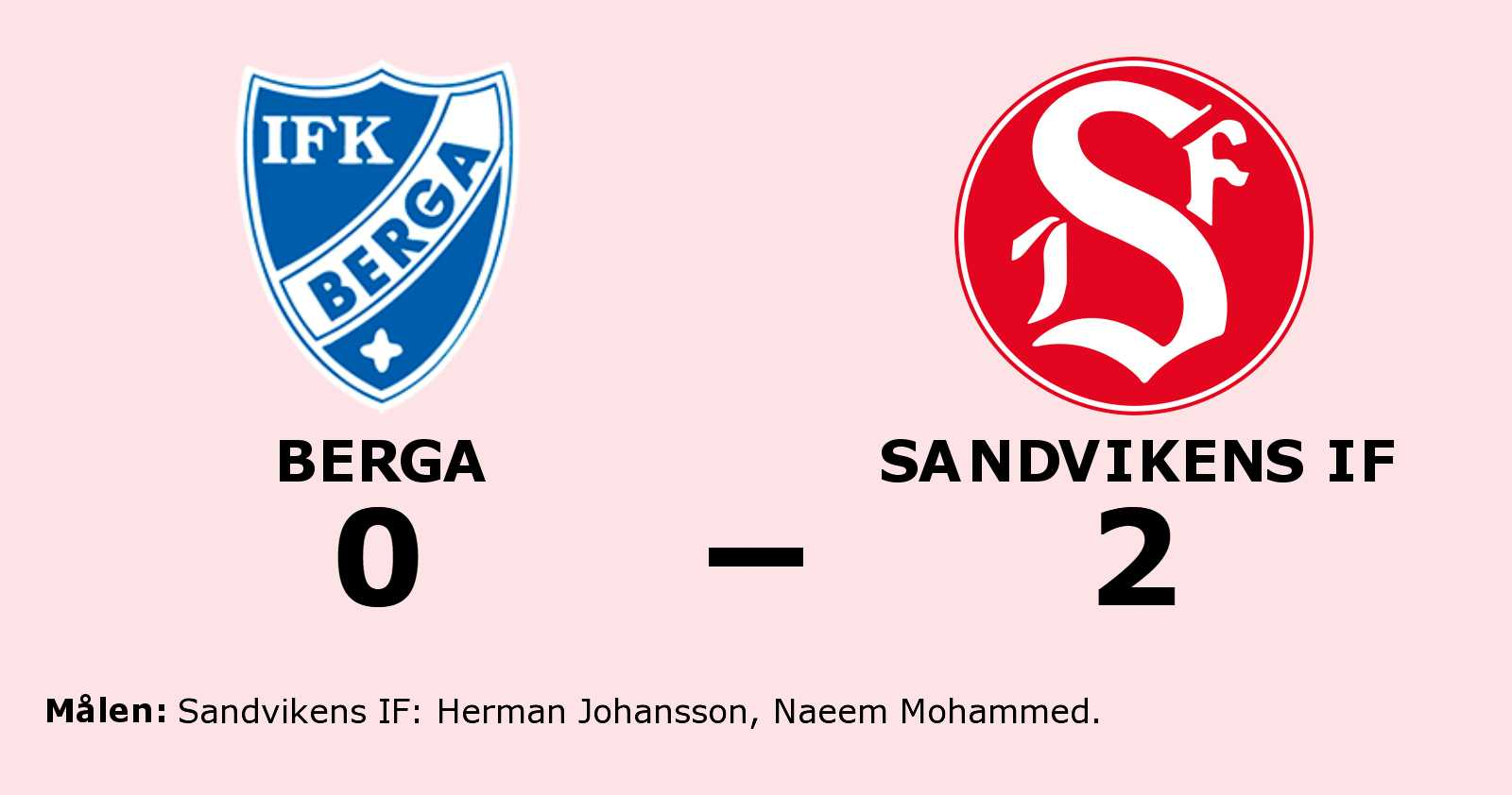 Herman Johansson och Naeem Mohammed målgörare i Sandvikens IF:s seger
