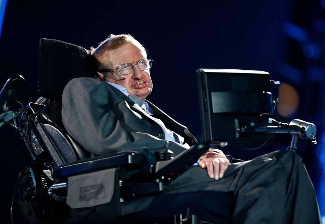 Hawking håller ett föredrag 2012