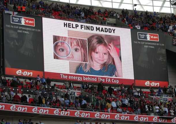 Under pausen i FA-cupfinalen mellan Chelsea och Manchester United på Wembley Stadium i London.
