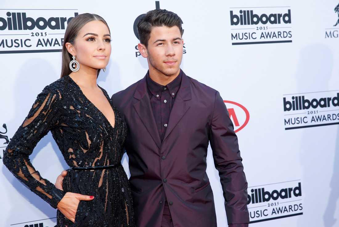 Olivia Culpo och Nick Jonas på Billboard Music Awards