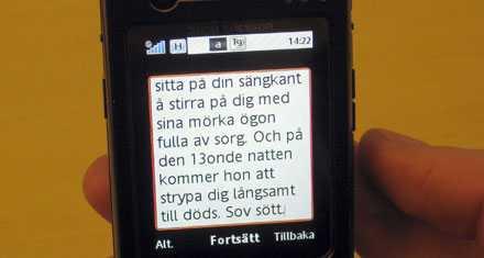 Sms:et som skickats till eleverna – bland annat med dödshot – har skrämt upp barnen på Nytorpsskolan i Göteborg.