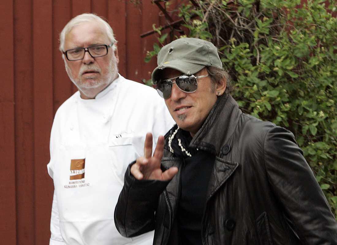 Leif Mannerström med vännen Bruce Springsteen.