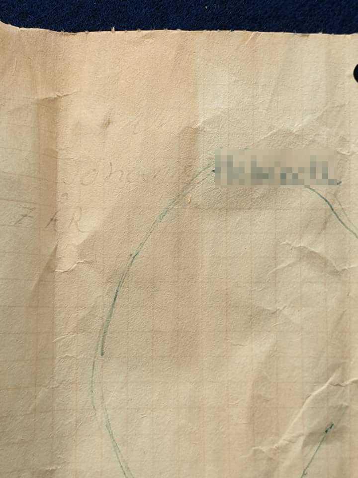 Johan, då 7 år, skickade en teckning.