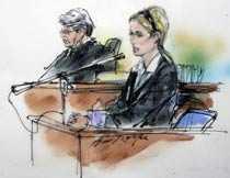 Inifrån rättsalen Paris Hilton föll i tårar när hon ansattes av domaren.