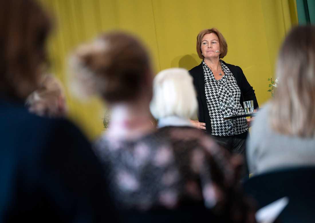 Jeanette Andersson, vd Minc, talar vid Nordic Female Investor Meetup på Studio i Malmö på torsdagen.