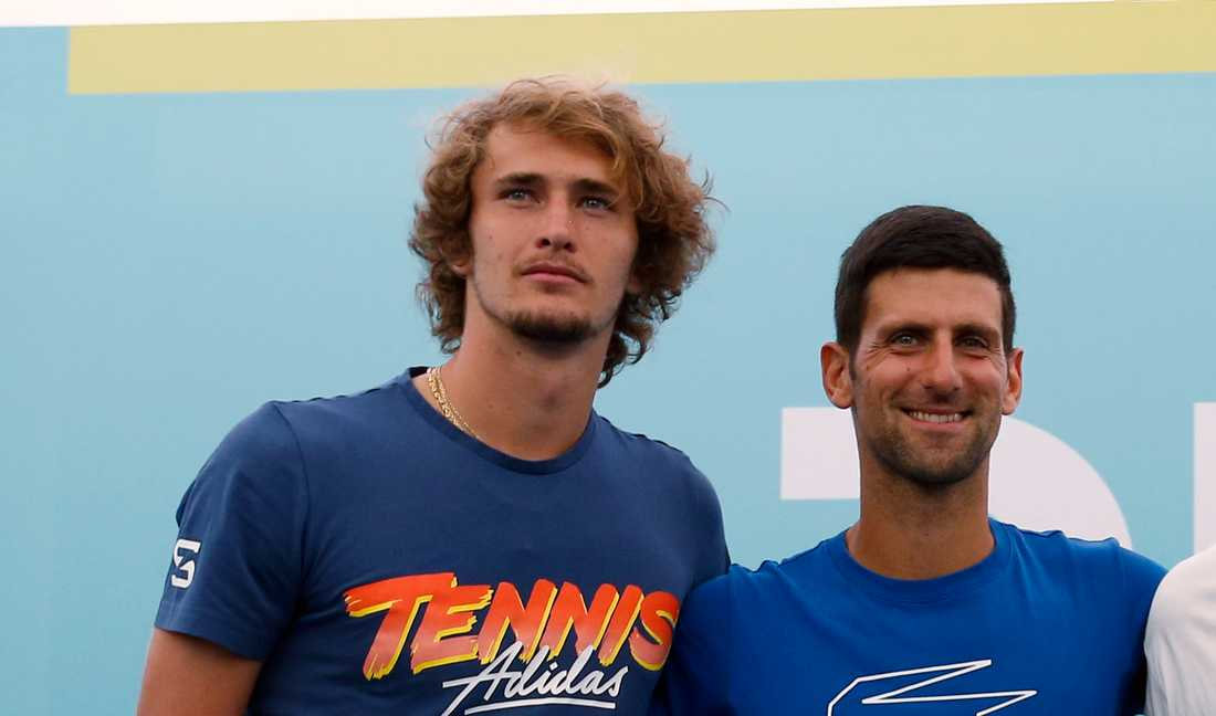 Alexander Zverev och Novak Djokovic