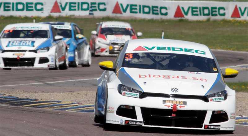 Johan Kristoffersson var snabbast i sin Volkswagen Team Biogas.