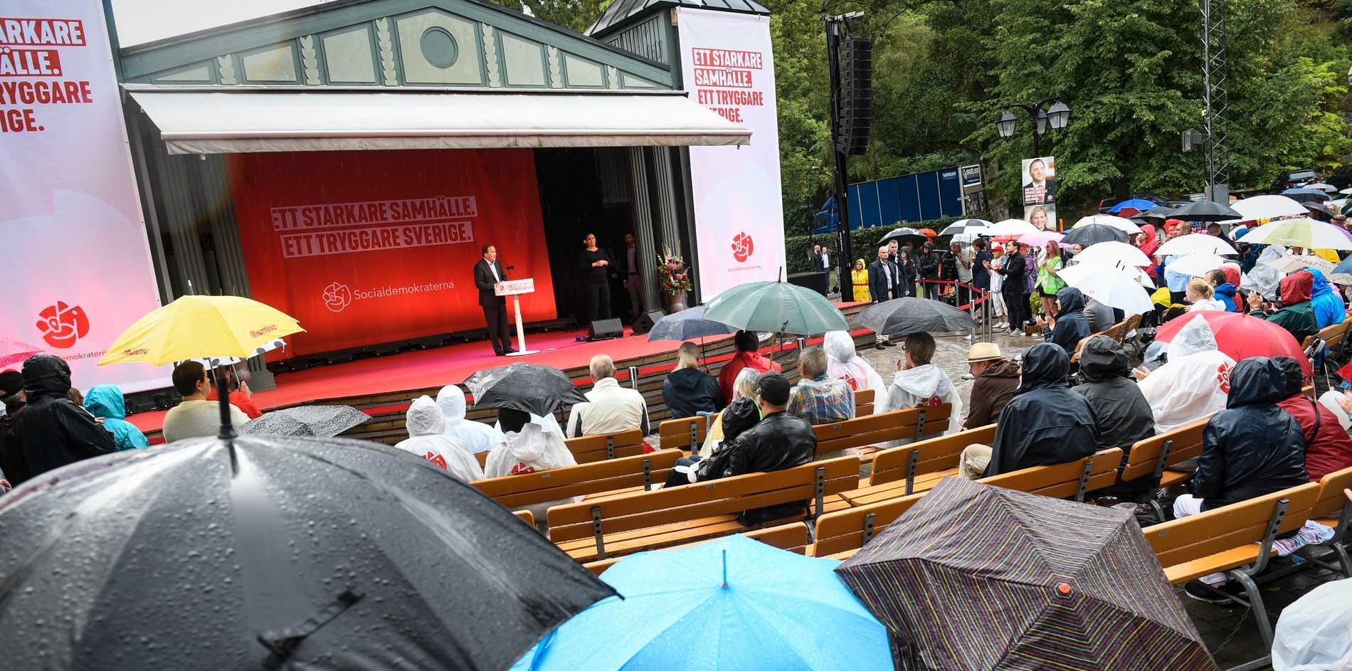 Statsminister Stefan Löfven höll sommartal i Norrtälje på söndagen.
