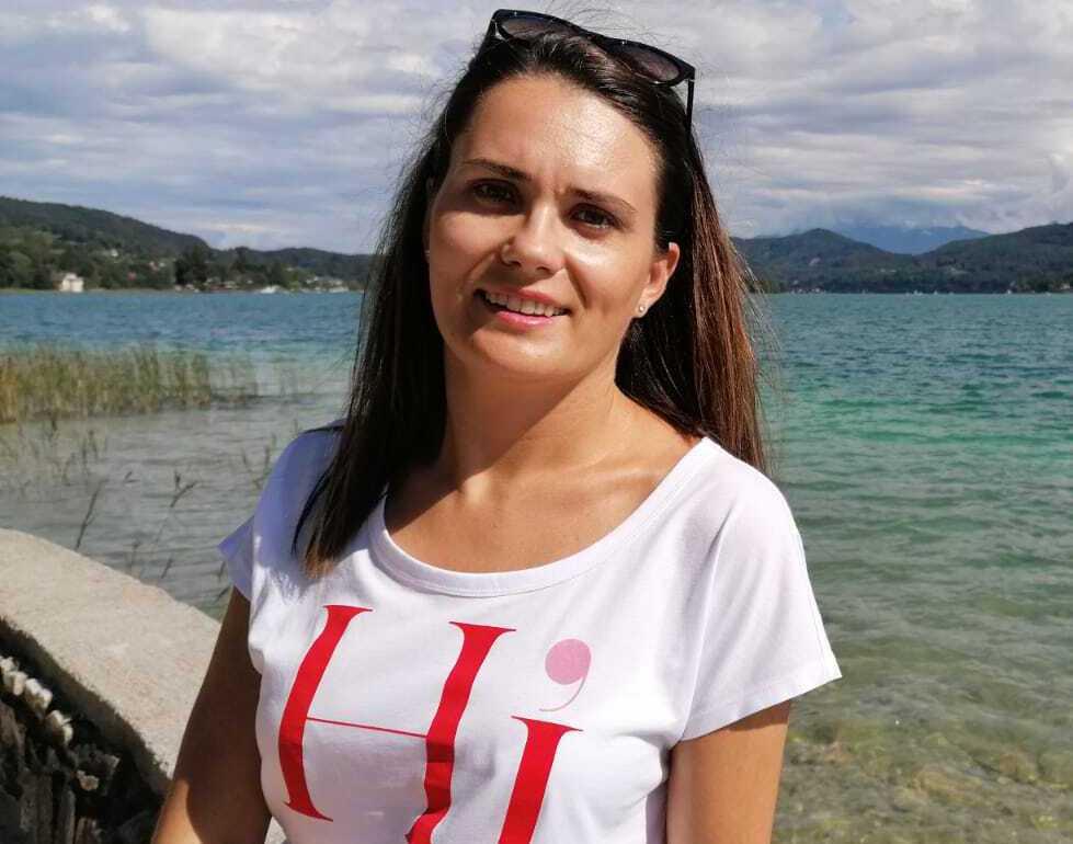 Aida Krndic, 31, blev vittne till attacken i Wien.