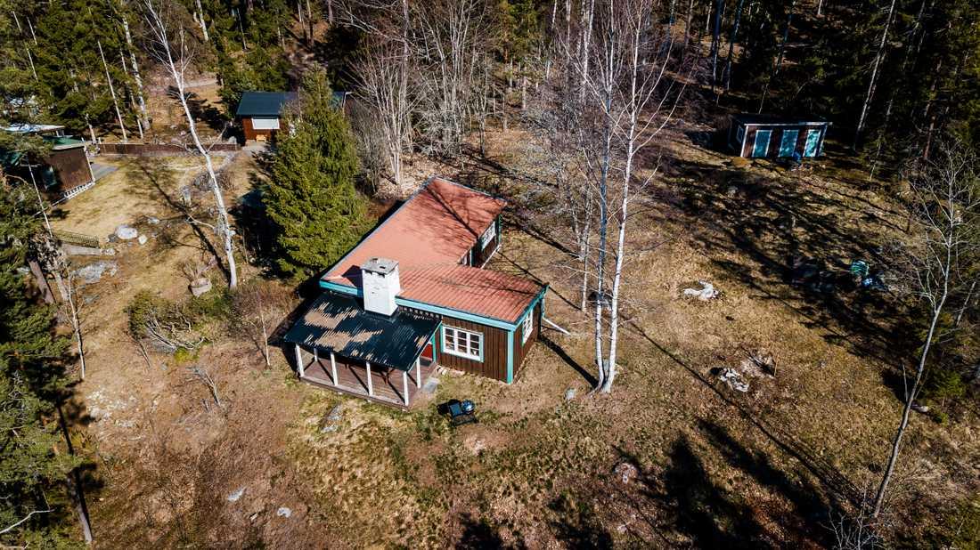 Här är fritidshuset som Erik Bengtzboe uppger är hans permanenta boende i Nyköping.
