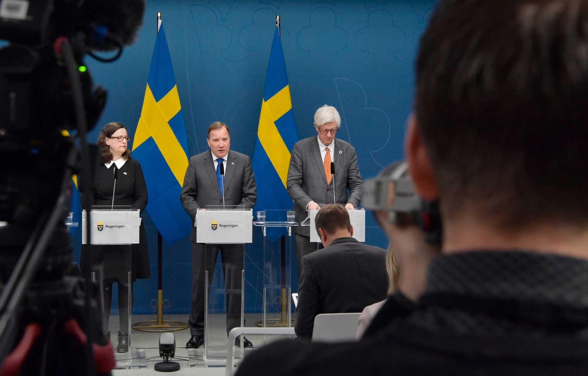 Pressträff om coronavirusets påverkan på Sveriges skolor.