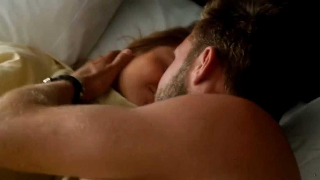 Annica och Sebastian när de vaknade upp efter natten tillsammans
