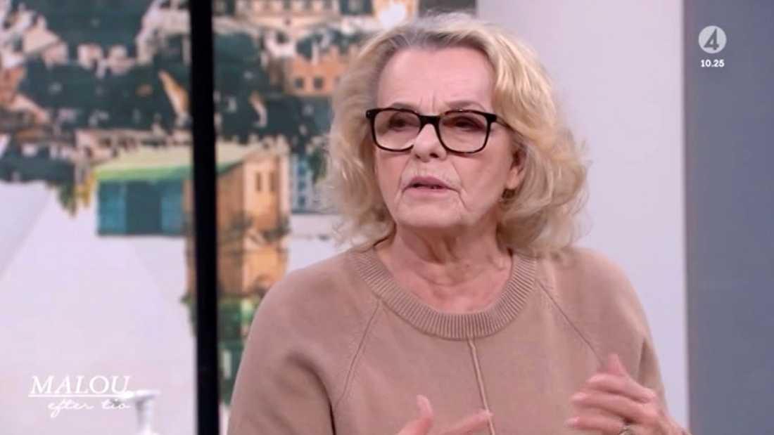 """Marie Göranzon i """"Malou efter tio""""."""