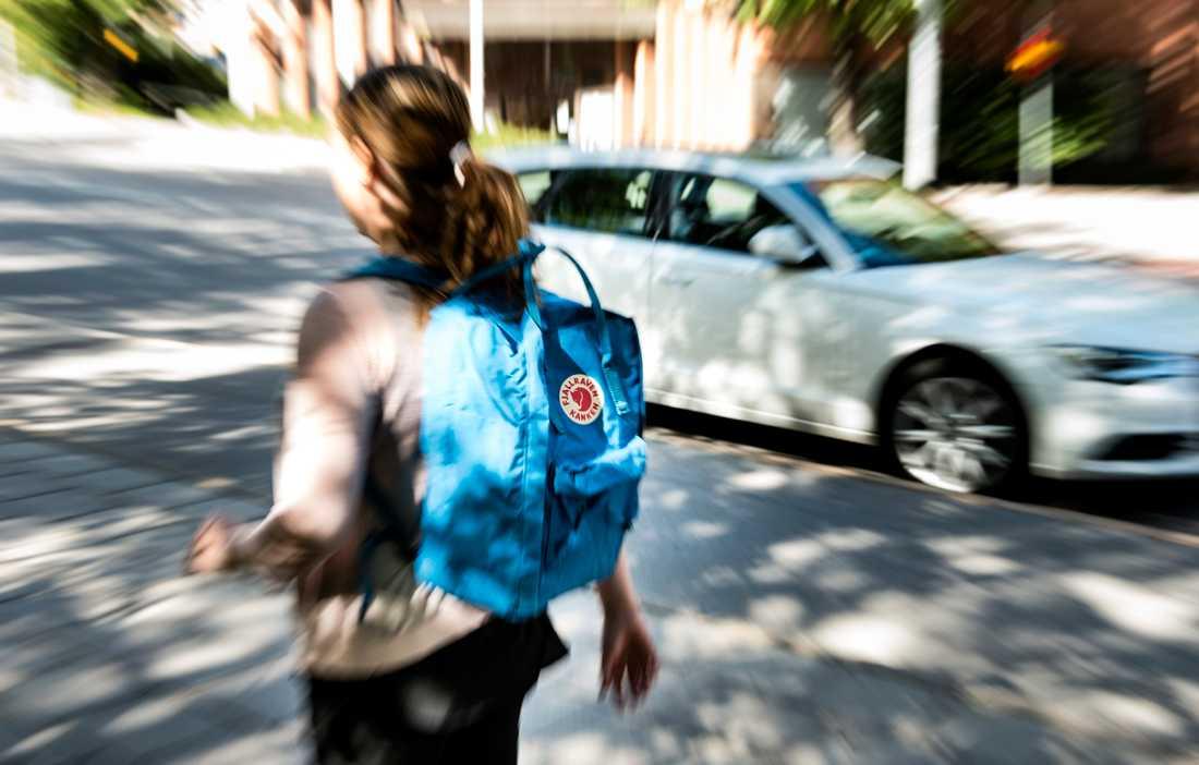Bilden på den populära ryggsäcken Kånken fick över 3 000 likes på det numera raderade kontot.