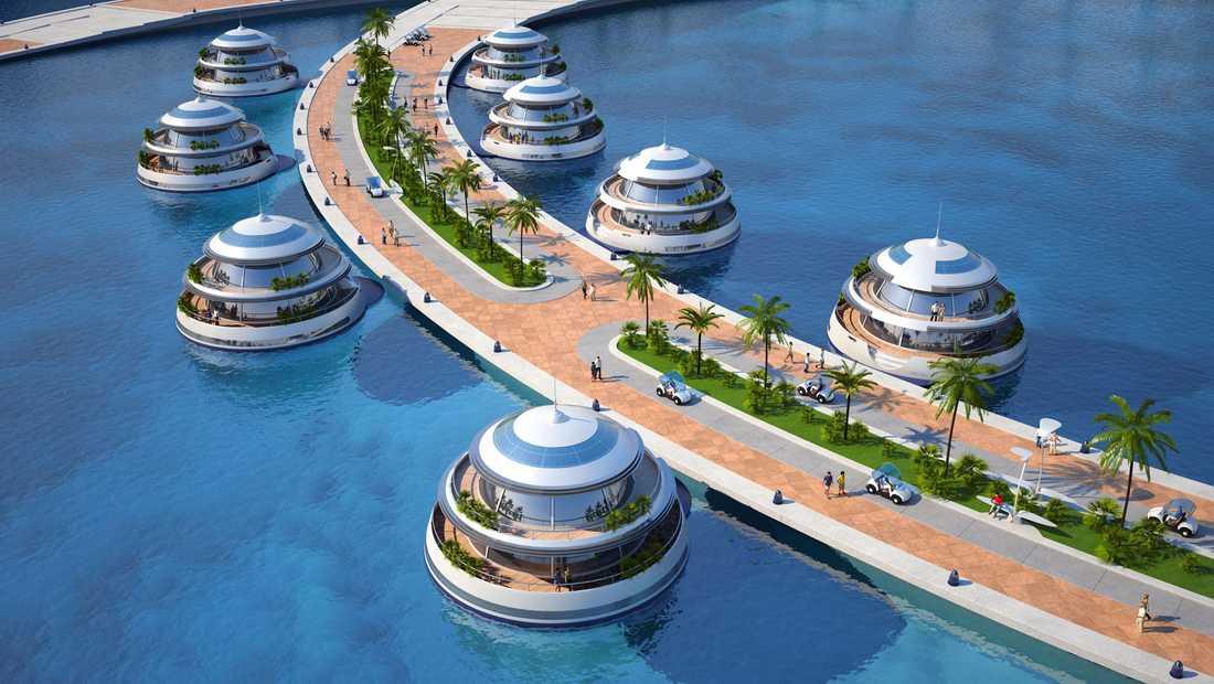 Hotellet får 80 guppande kapslar, varje har fyra våningar och en undervattens-lounge.
