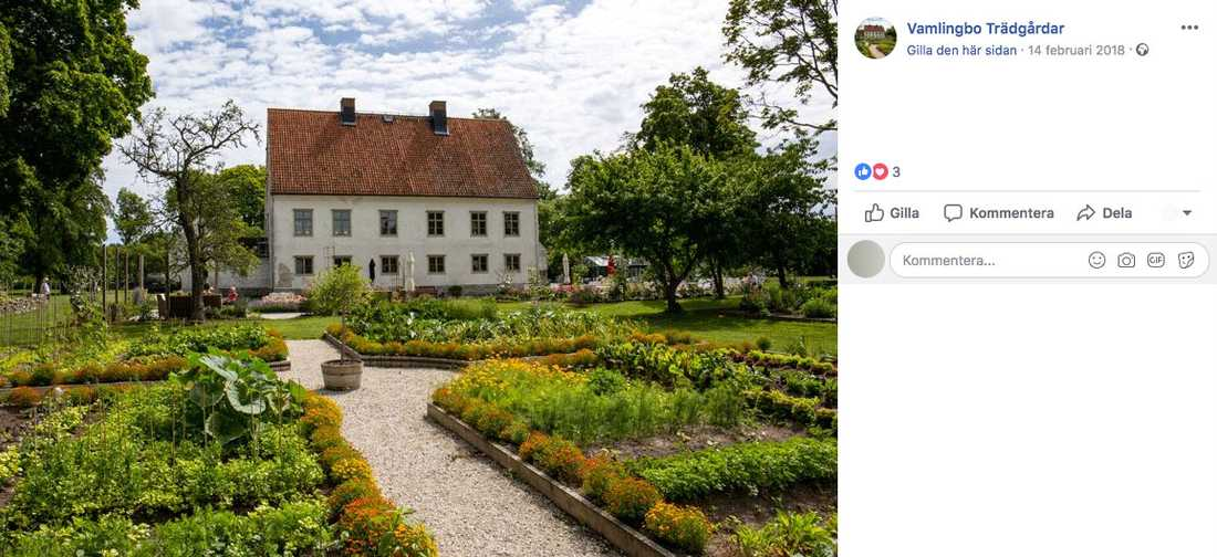 Handelsträdgården har gått ut med en efterlysning på sin Facebooksida.