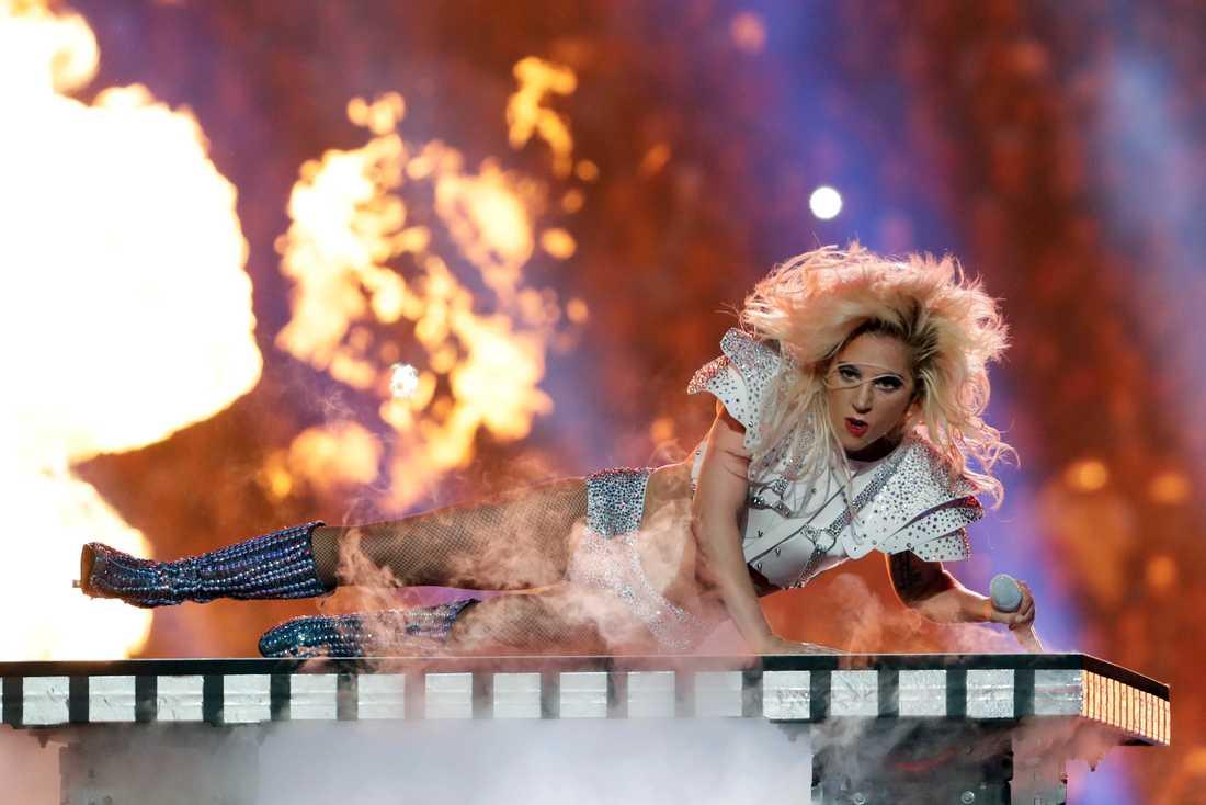 Lady Gaga i pausen.