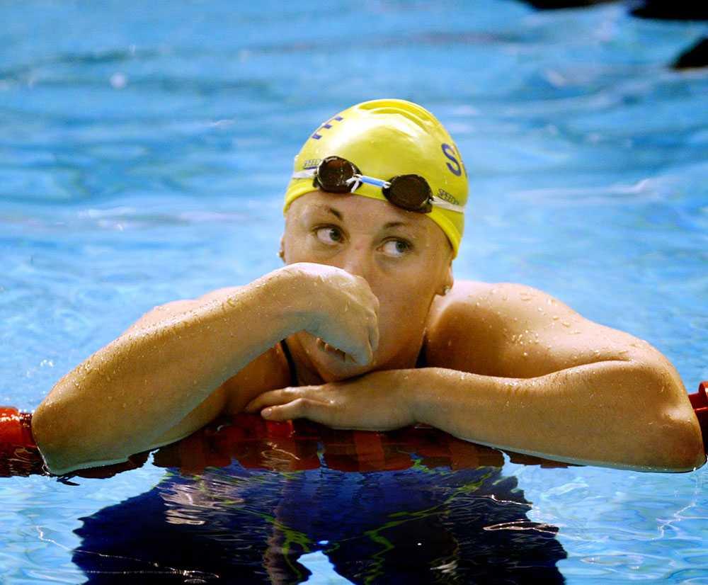 Emma Igelström under sim-SM för 13 år sedan