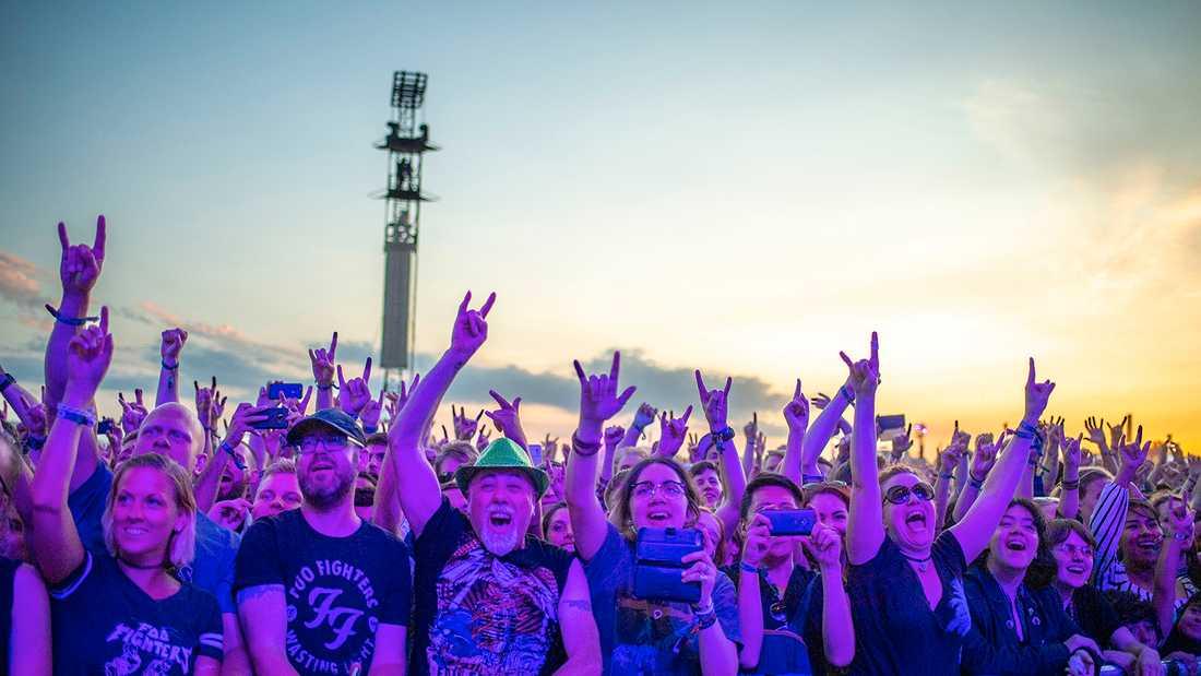 Över 56000 personer tog sig till Gärdet i Stockholm i helgen.
