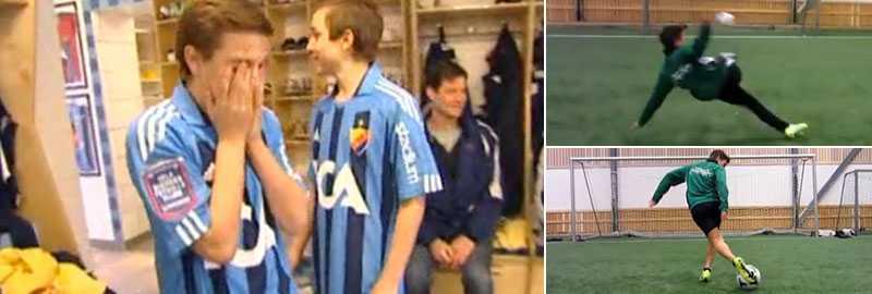 Tvillingarna El-Zein fick hälsa på Djurgården redan 2011. Efter det har de blivit världskända för sina färdigheter på Youtube och är nu klara för klubben i deras hjärtan.