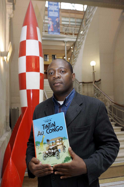 """Bienvenu Mbutu har stämt seriefiguren Tintin. Han anser att albumet """"Tintin i Kongo"""" är rasistiskt."""