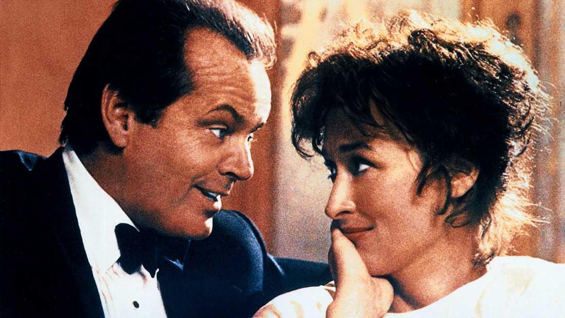 """Jack Nicholson och Meryl Streep i """"I lust och nöd""""."""