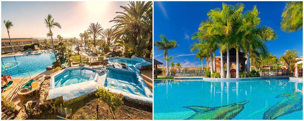 IFA interclub Atlantic på Gran Canaria ligger i San Agustín och är perfekt för hela familjen. Green Garden på Teneriffa har hög standard och ligger nära golfbana och vattenlandet Siam Park.