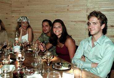Middag i New York September 2000, tillsammans med Camilla Spendrup, Daniel Collert och Jon Spendrup.