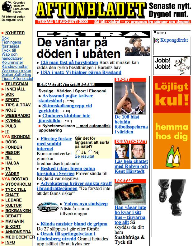 Aftonbladet 2000.