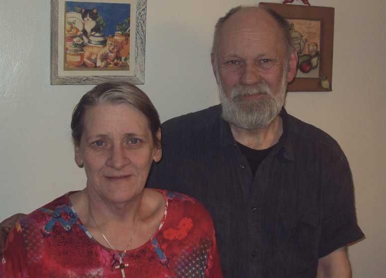 Vigfús Andrésson och hans hustru Jonna Olsen.