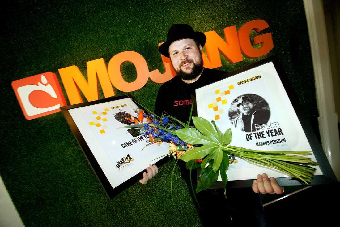 """Nöjesbladets läsare röstade fram Markus Persson till Årets person i spelvärlden 2010, och """"Minecraft"""" till Årets indiespel."""