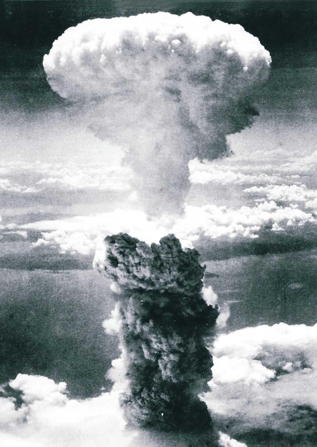 """Från 10 000 meters höjd släpptes bomben som gick till historien som """"Little Boy"""". 43 sekunder senare detonerade den."""