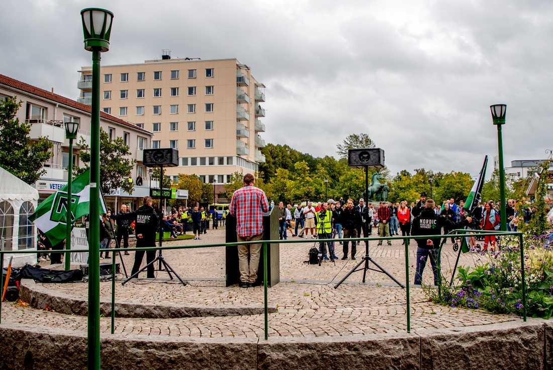 NMR har vid flera tillfällen, som här under valrörelsen i fjol, hållit möten i Kungälv – trots kommunens protester. Arkivbild.