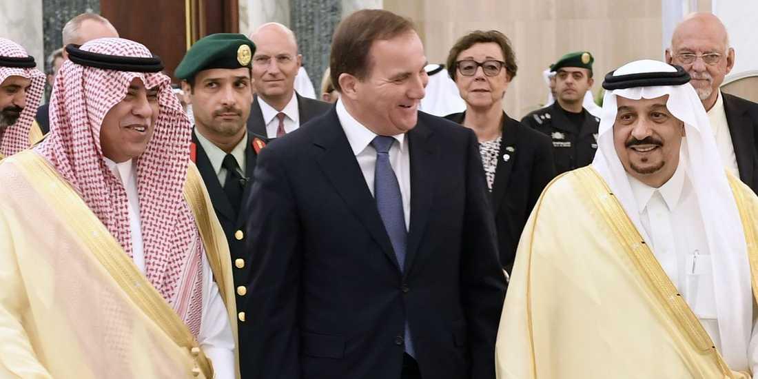 2016 träffade Stefan Löven de tre mäktigaste personerna i Saudiarabien: kung Salman, kronprins Muhammad bin Nayif och vice kronprins Muhammad bin Salman.