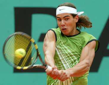 Nadal - som vi inte får se honom i Wimbledon.