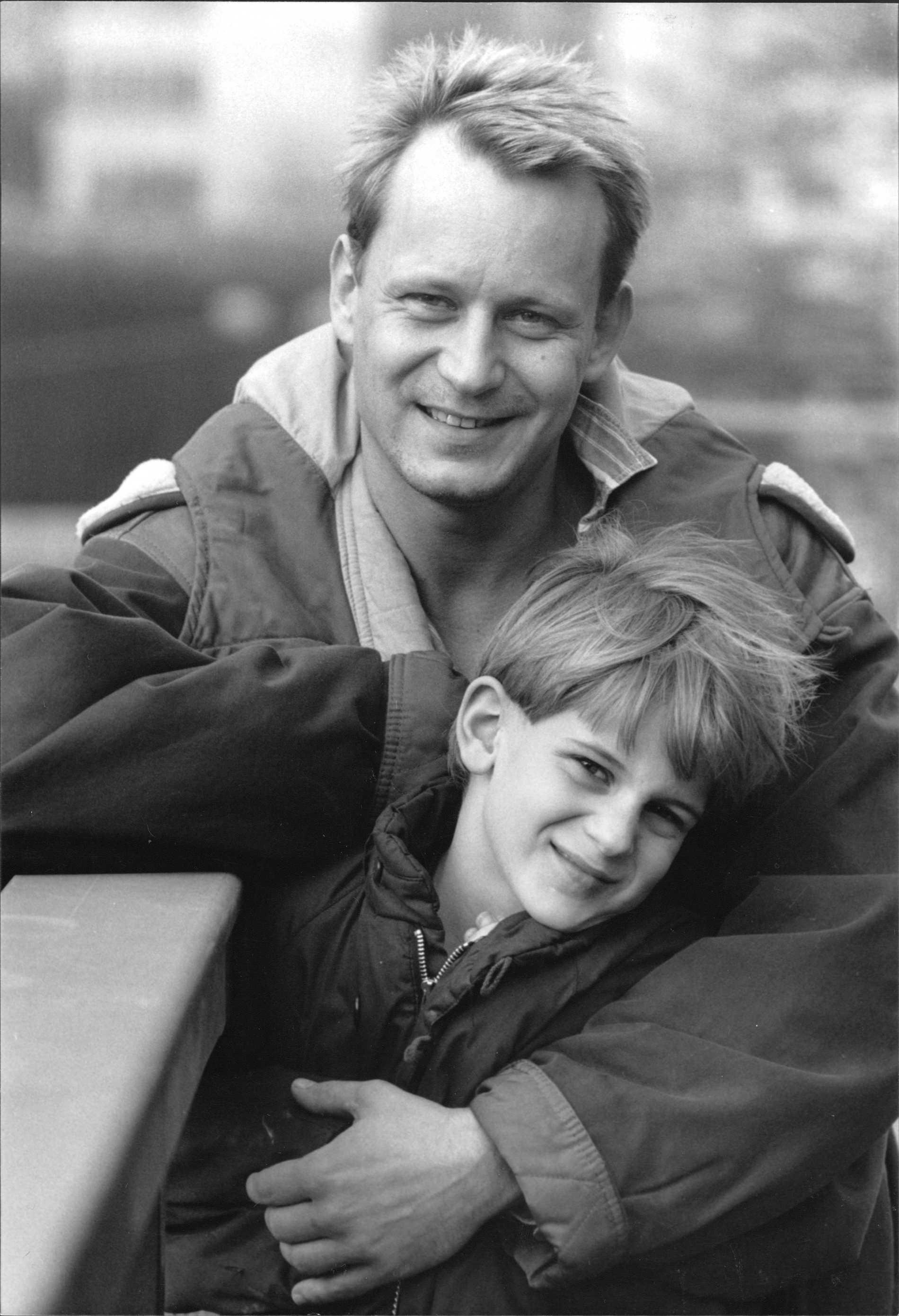 Stellan Skarsgård med sonen Gustaf.