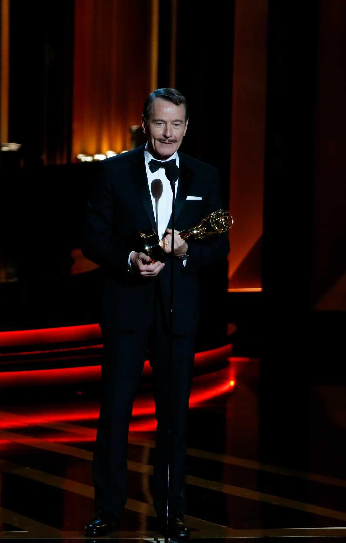 """Bryan Cranston vann bästa manliga huvudroll för sin insats i """"Breaking bad""""."""