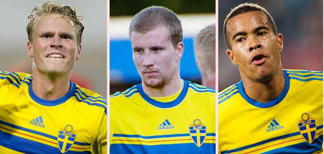 Oscar Hiljemark, Simon Gustafsson och Robin Quaison.
