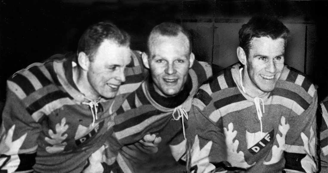 Lasse Björn, Rolle Stoltz och Sven Tumba – en fruktad trio i Djurgården på 50- och 60-talet.