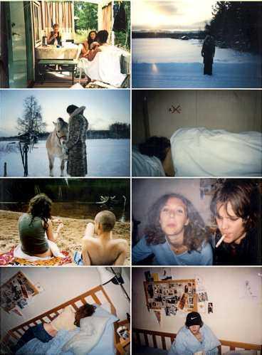 """Några få av de 3147 bilder som utgör Miriam Bäckströms och Carsten Höllers projekt """"All images of an Anonymous Person""""."""