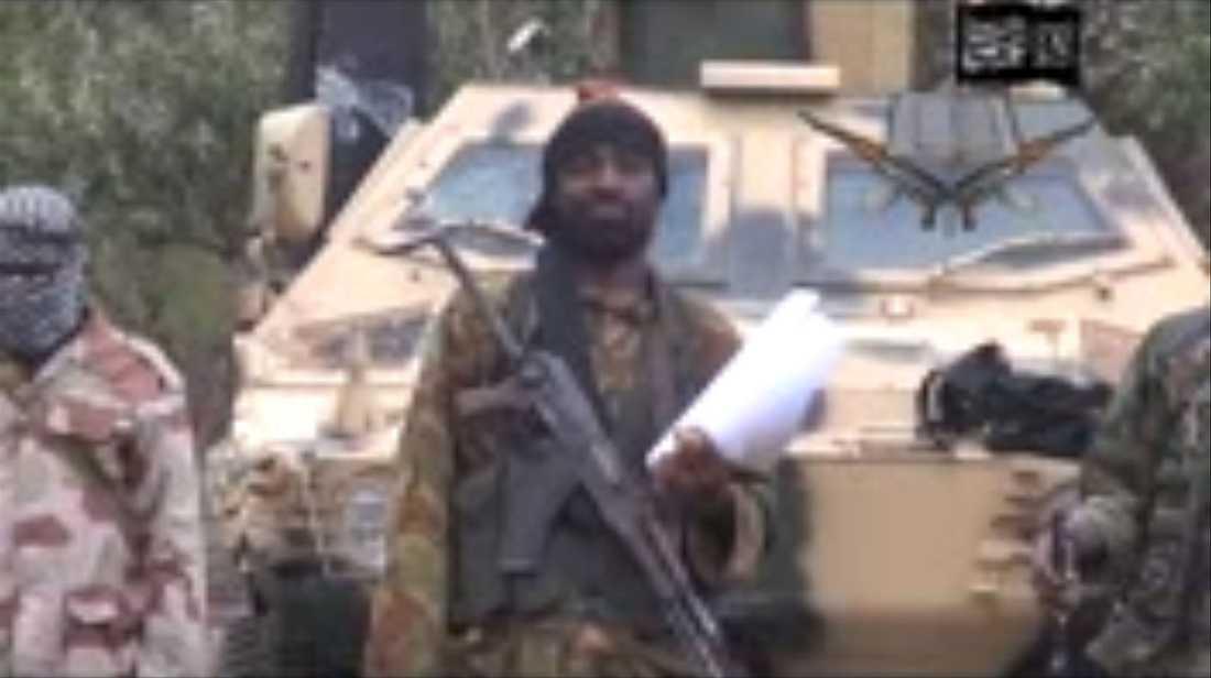 Boko haram-ledaren Abubakar Shekau.