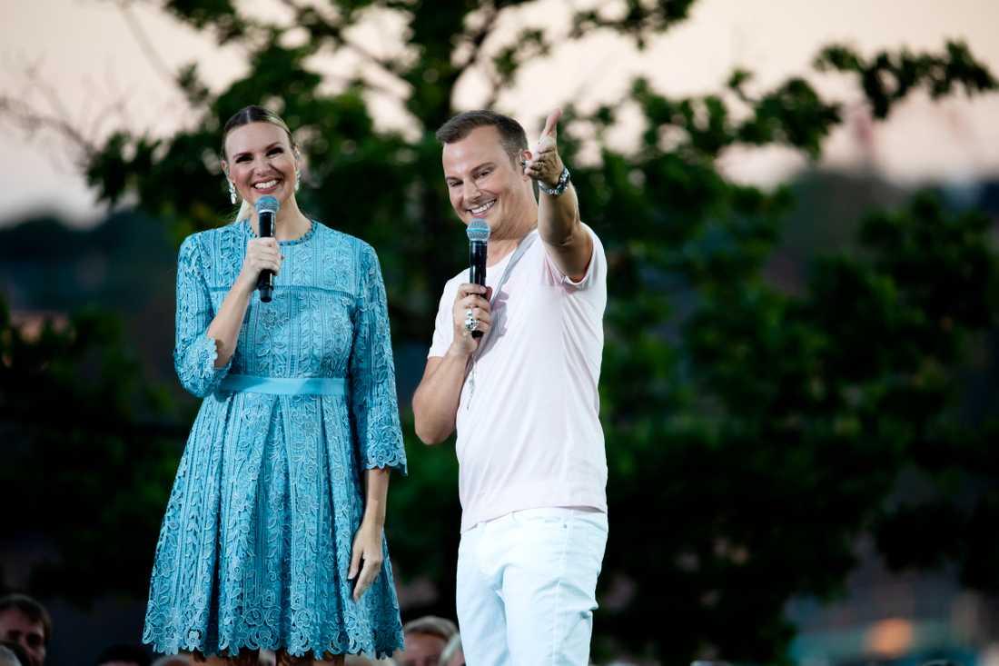 Magnus Carlsson och Sanna Nielsen.