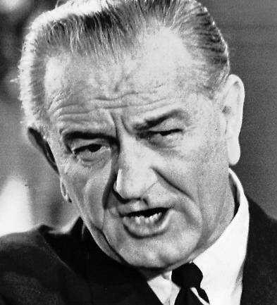 Lyndon B Johnson, president.