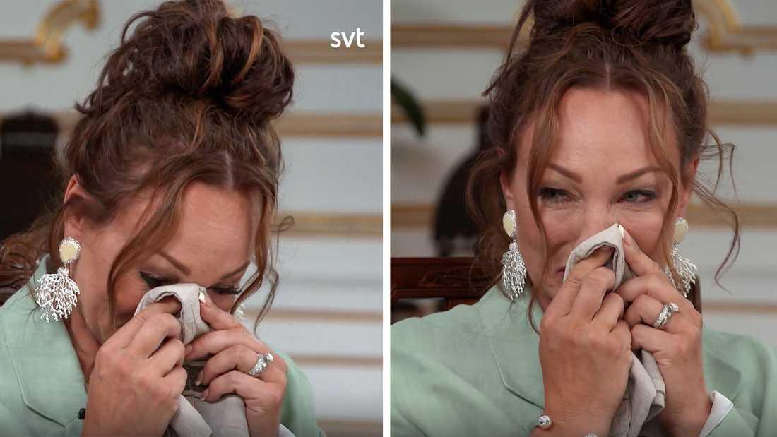 """Charlotte Perrellis tårar i """"Stjärnorna på slottet""""."""