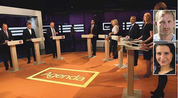 Inför det kommande valet efterlyser vi en gemensam ansträngning att diskutera hederligt. Där sakfrågor står i centrum snarare än politiskt taktiserande, skriver Martin Marmgren (MP) och Abir Al-Sahlani (C).