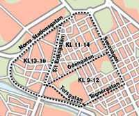 Zoner med dagstädning av gatorna i Vasastan (ovan) och Kungsholmen (nedan). Grafik: AFTONBLADET GRAFIK
