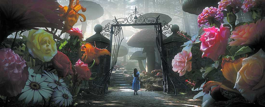 """De avancerade datoreffekterna i """"Alice i Underlandet"""" kommer att ta mer än ett år att skapa. Filmen har premiär 2010."""