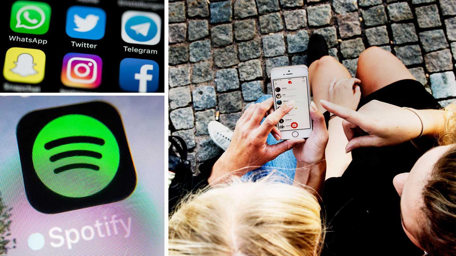 Stort app-haveri via Facebook: Spotify, Storytel och Tinder nere