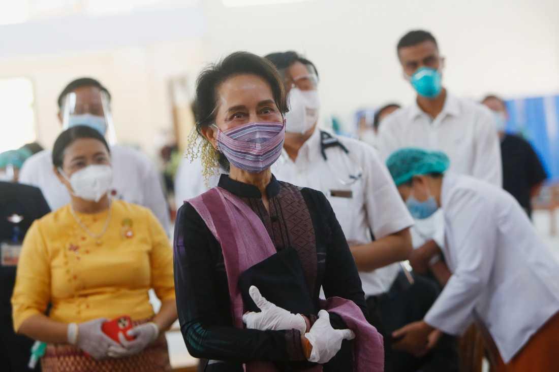 Myanmars ledare Aung San Suu Kyi.