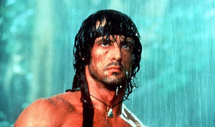 """Sylvester Stallone som """"Rambo"""" i filmen First Blood."""